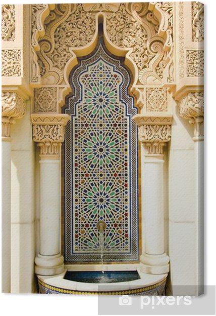 Canvas Marokkaanse architectuur ontwerp - Midden Oosten