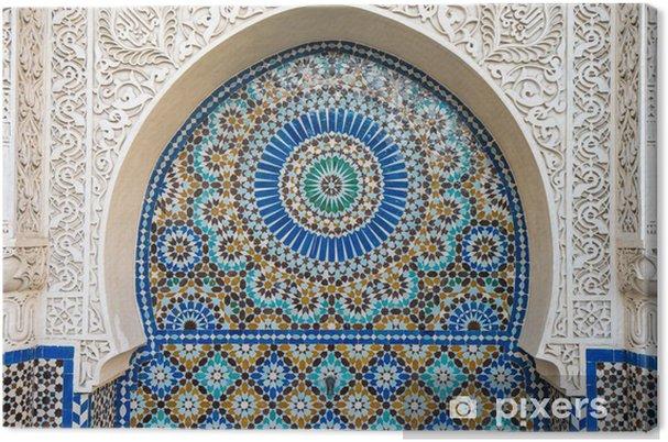 Canvas Marokkaanse tegels decor - Achtergrond