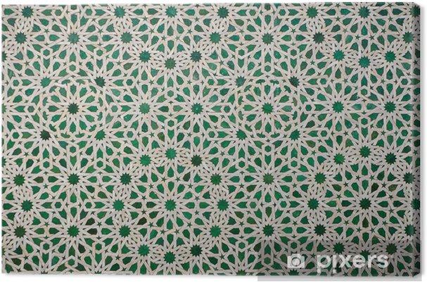 Canvas Marokkaanse vintage tegel achtergrond - Stijlen
