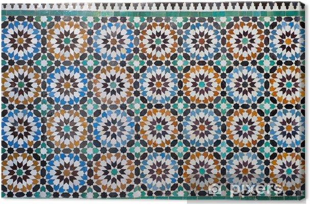 Canvas Marokkaanse vintage tegel achtergrond - Landen