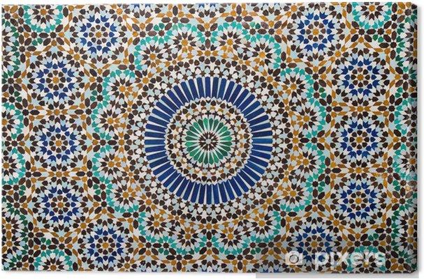 Canvas Marokkaanse vintage tegel achtergrond - Mozaïek