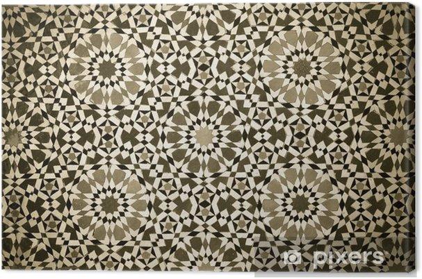 Canvas Marokkaanse vintage tegel achtergrond - Marokko