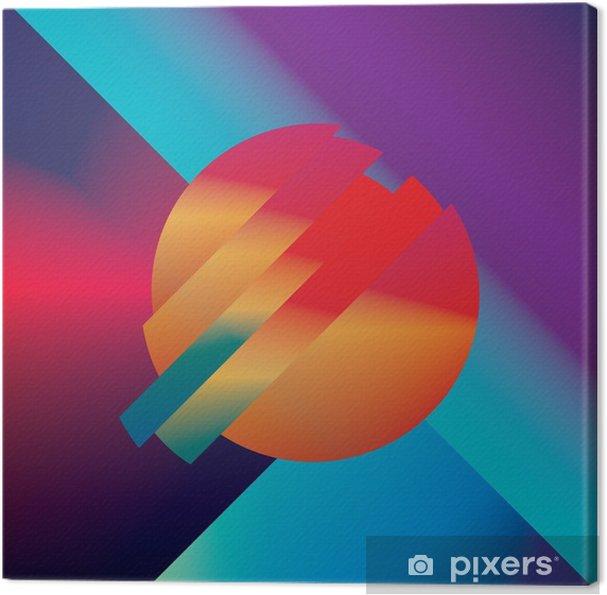 Canvas Materiaal ontwerp abstracte vector achtergrond met geometrische isometrische vormen. Levendig, helder, glanzend kleurrijk symbool voor behang. - Grafische Bronnen