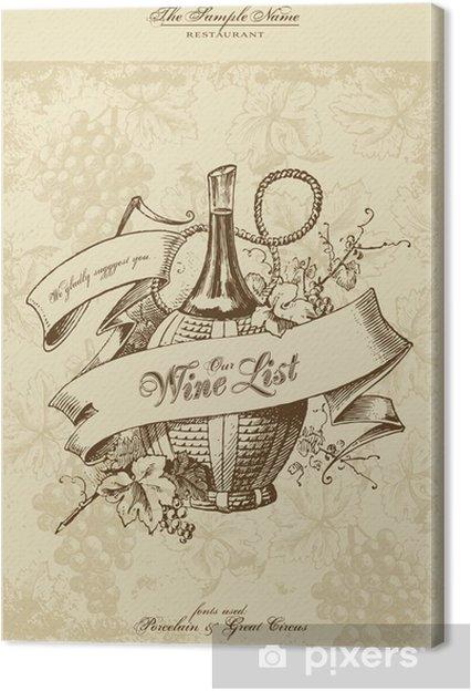 Canvas Menu serie: wijnkaart - Stijlen