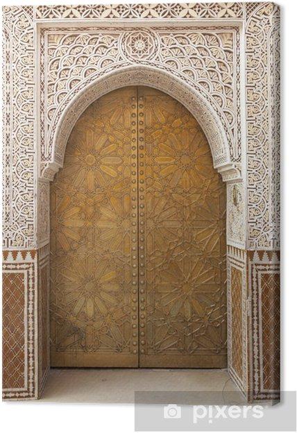 Canvas Messing versierd Marokkaanse deur - Monumenten