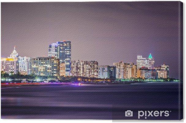 Canvas Miami Beach Skyline - Amerika