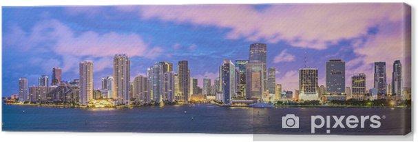 Canvas Miami, Panoramische skyline Florida - Amerika