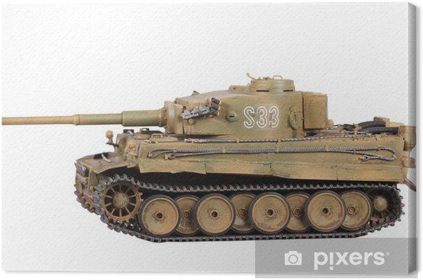 Canvas Model van de tank Tiger geïsoleerd - Thema's