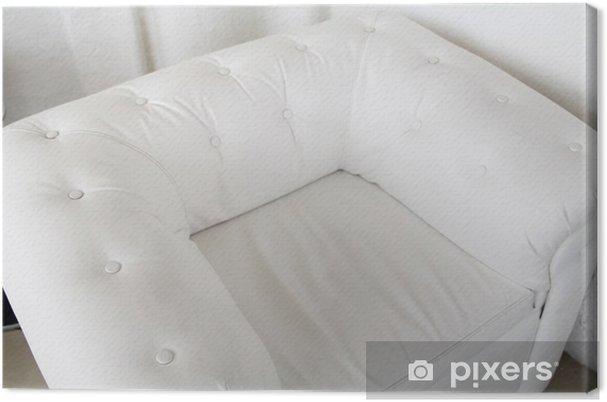 Moderne Lederen Fauteuil.Canvas Moderne Witte Lederen Fauteuil Met Batton In Het Interieur