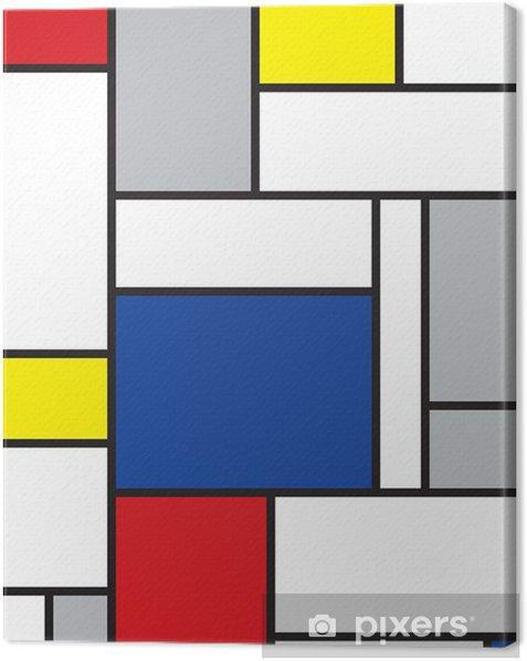 Canvas Mondriaan geïnspireerde kunst -