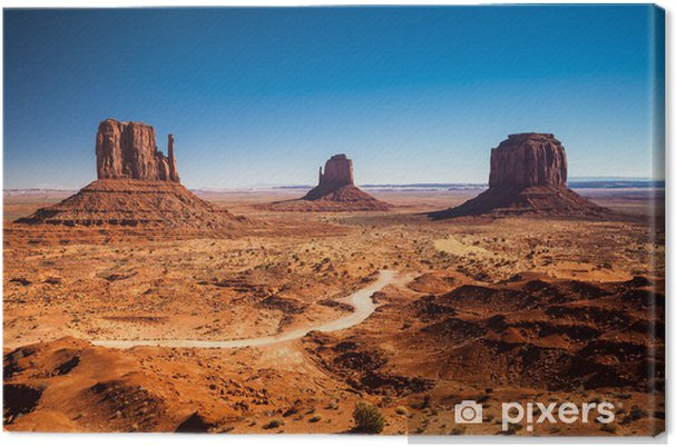 Canvas Monument Valley, USA - Woestijn