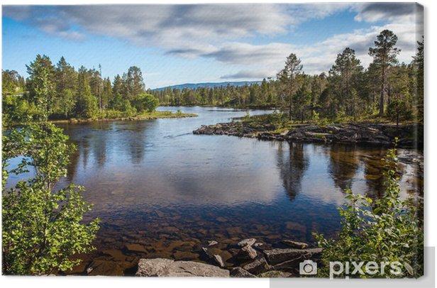 Canvas Mooi landschap - kristalheldere rivier - Thema's