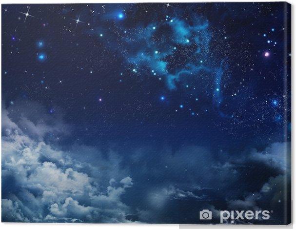 Canvas Mooie achtergrond van de nachtelijke hemel met sterren - Thema's