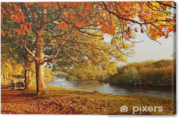 Canvas Mooie Herfst in het park - Bestemmingen