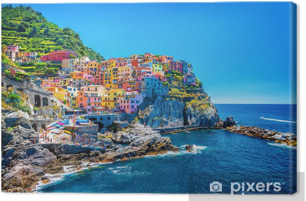 Canvas Mooie kleurrijke stad - Thema's