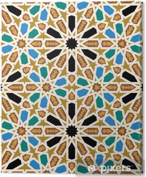Canvas Moorse Fez Naadloze Patroon Vier - Mozaïek