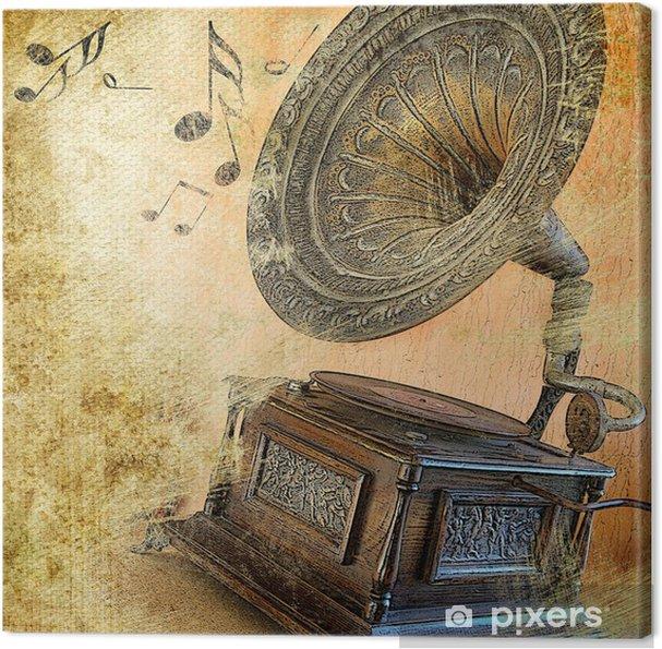 Canvas Muzikale retro - Stijlen