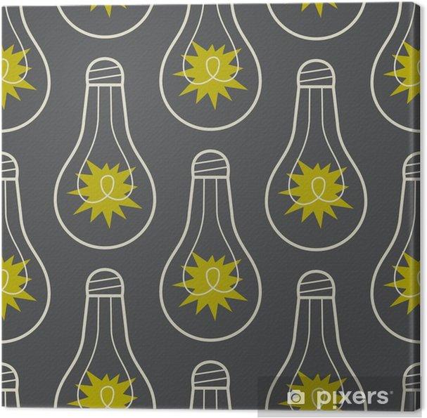 Canvas Naadloos patroon met lampen en licht - Grafische Bronnen