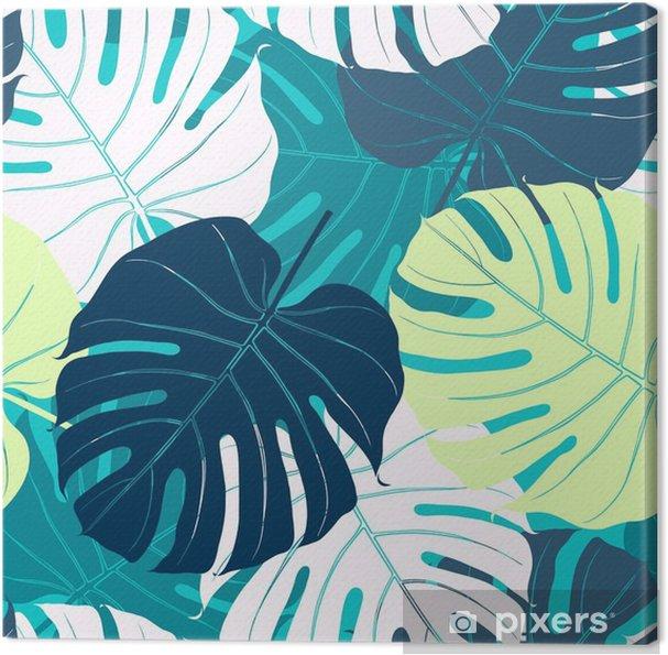 Canvas Naadloos patroon met palmbladeren - Bloemen en Planten