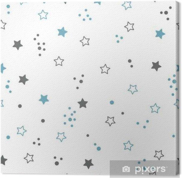 Canvas Naadloos patroon met sterren. ruimte achtergrond - Grafische Bronnen