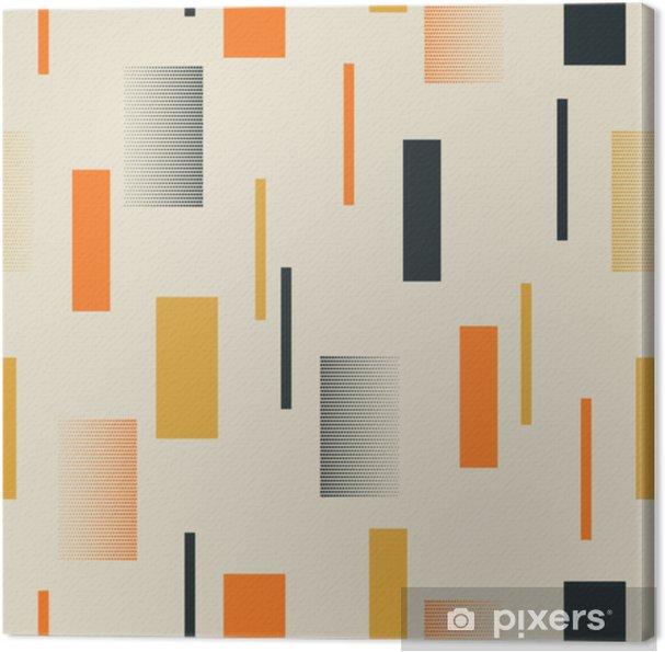 Canvas Naadloos retro patroon met strepen - Grafische Bronnen