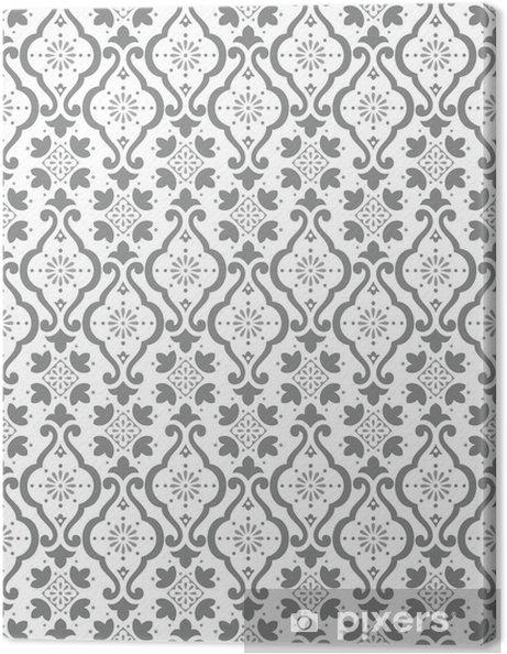 Canvas Naadloos zilveren behang - Achtergrond