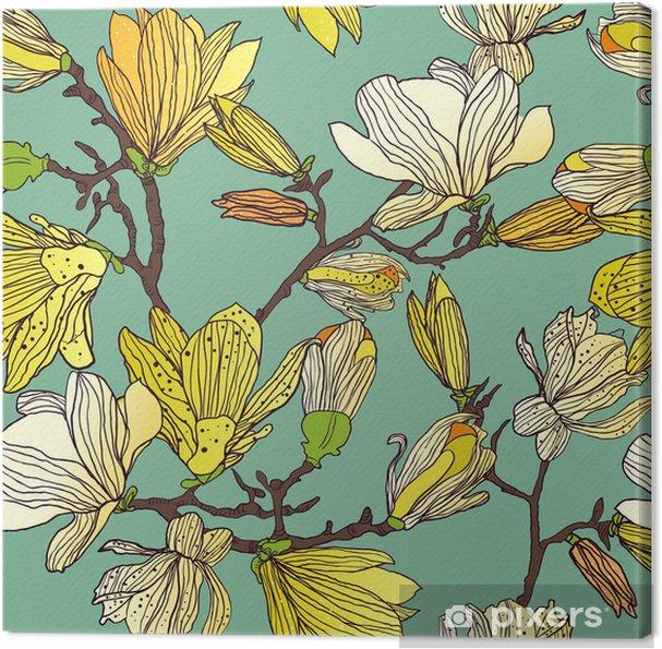 Canvas Naadloze bloementextuur - Stijlen