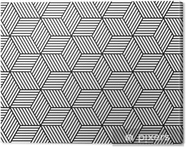 Canvas Naadloze geometrische patroon met blokjes. - Grafische Bronnen