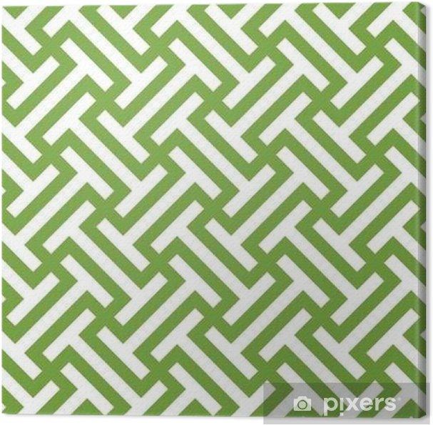 Canvas Naadloze groene en witte etnische op kunst stammen patroon vector - Graphic Resources