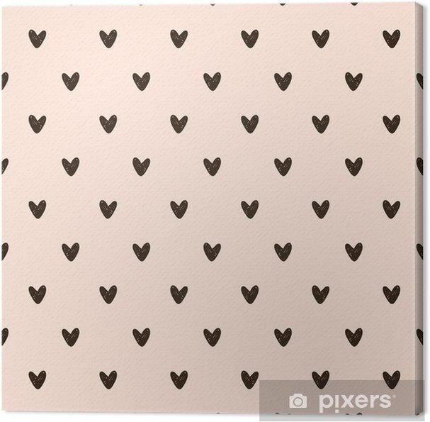 Canvas Naadloze hart patroon - Grafische Bronnen