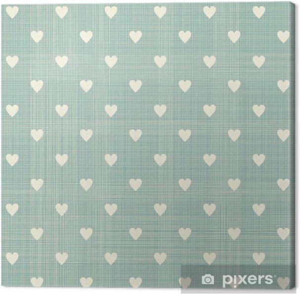 Canvas Naadloze hart patroon - Stijlen