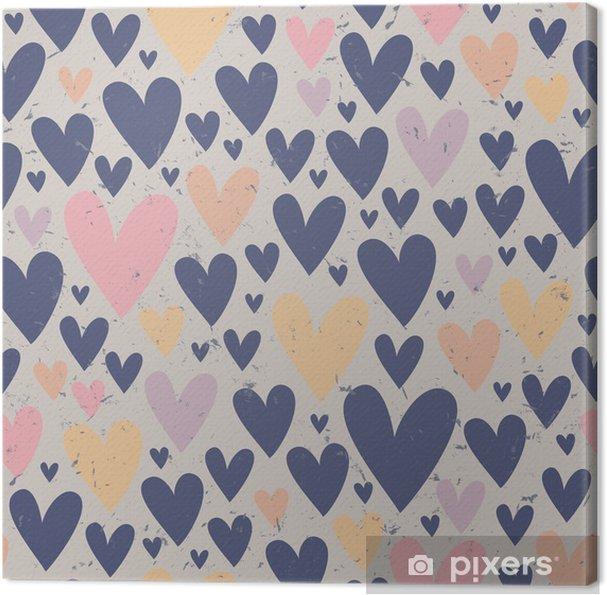 Canvas Naadloze hart patroon - Thema's