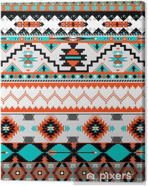 Canvas Naadloze navaho patroon - Stijlen