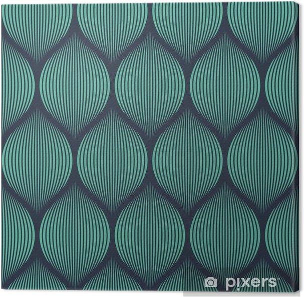 Canvas Naadloze neon blauwe optische illusie geweven patroon vector -