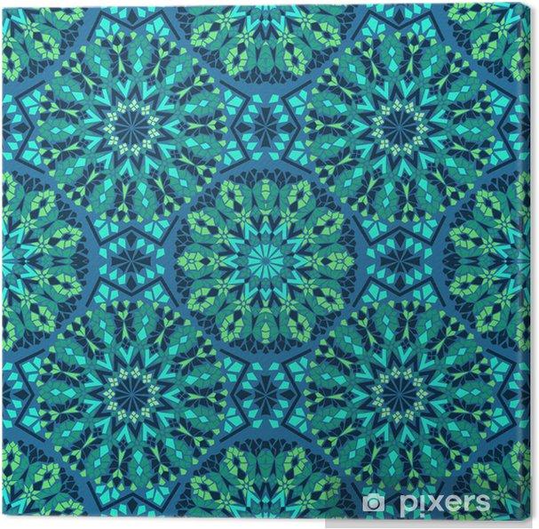 Canvas Naadloze patroon van mozaïek - Mozaïek
