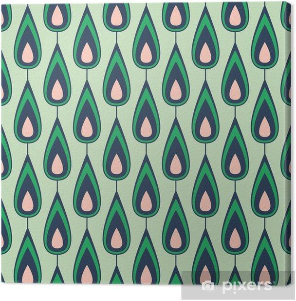 Canvas Naadloze vintage patroon - Grafische Bronnen