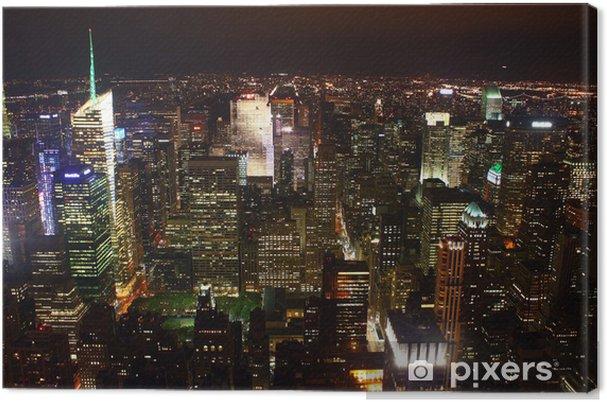 Canvas Nacht landschap van New York - Las Vegas