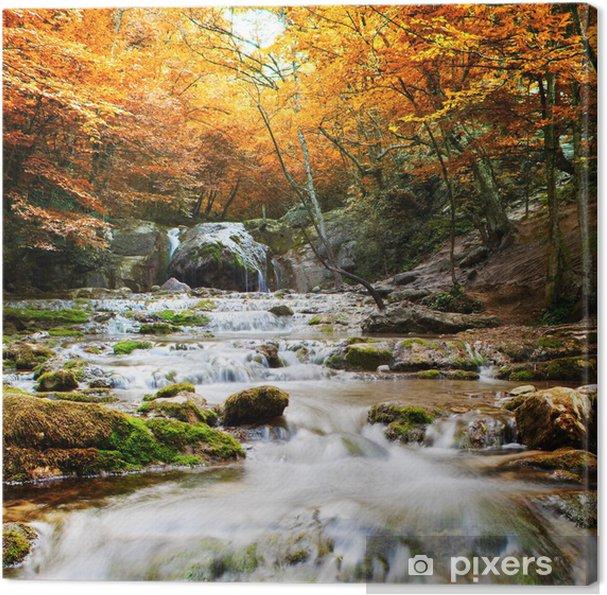 Canvas Natuurlijke najaar Waterval - Thema's