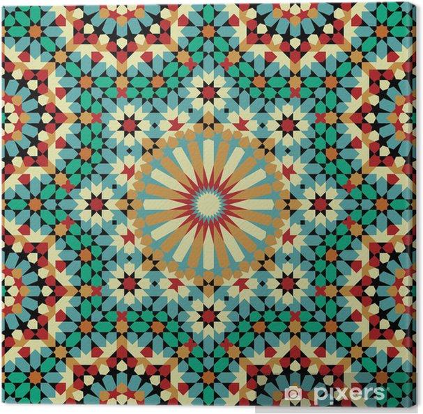 Canvas Nawa Naadloze Patroon Acht - Mozaïek