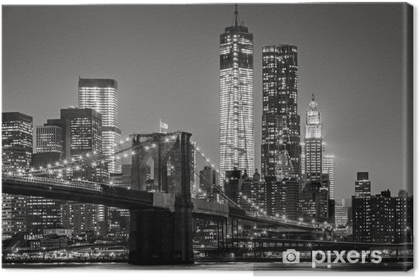 Canvas New York City in de nacht -