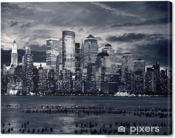 Canvas New York Downtown uit Jersey kant. - iStaging