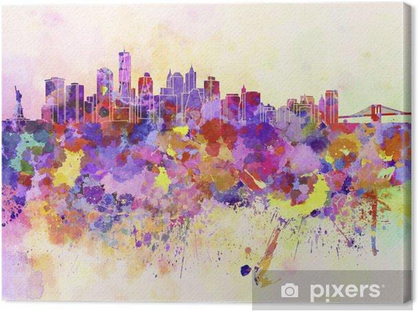 Canvas New York skyline in aquarel achtergrond - Stijlen