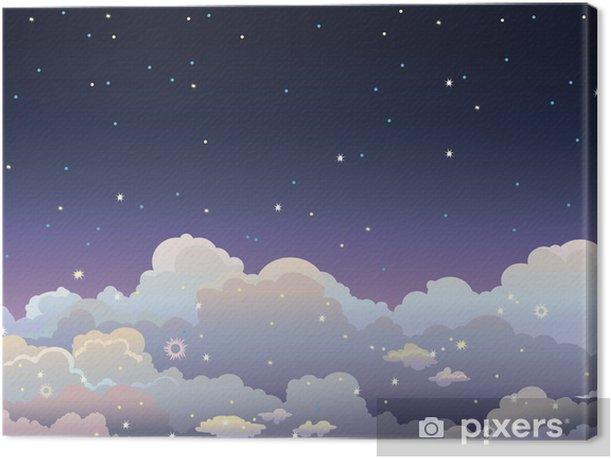 Canvas Night sterrenhemel. - Hemel