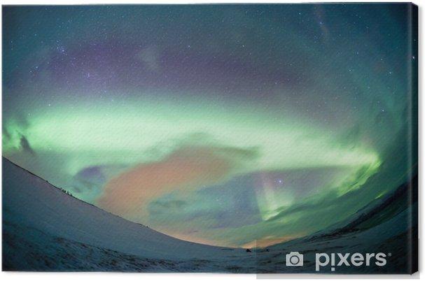 Canvas Noord-Zweden - Northern Lights Aurora - Wonderen der Natuur
