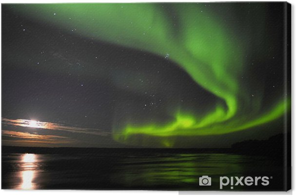 Canvas Nordlicht - Wonderen der Natuur