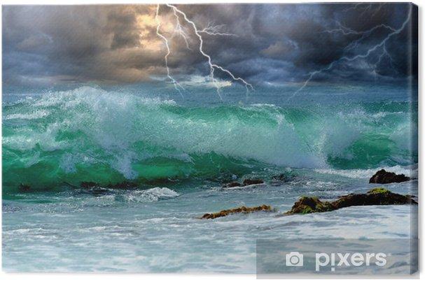 Canvas Ocean storm -