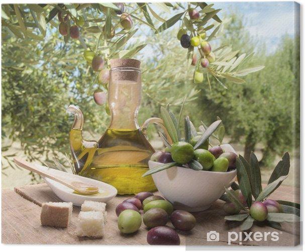 Canvas Olie en olijven - Olijven