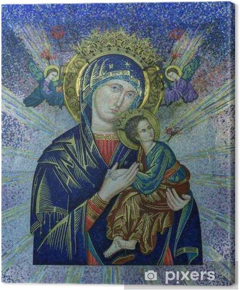 Canvas Onze Lieve Vrouw van Altijddurende Bijstand tegelmozaïek - Religie en Cultuur