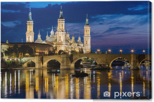Canvas Onze Lieve Vrouw van de Pilaar, Zaragoza - Europa