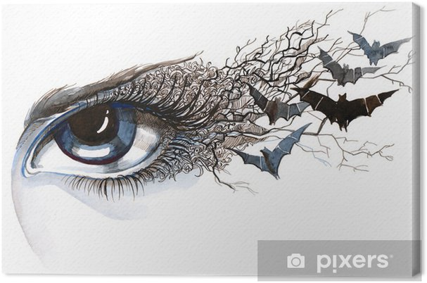 Canvas Oog met vleermuizen (reeks C) - Stijlen